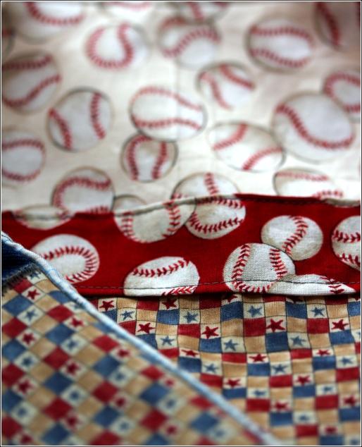 Baseballs&Stars SewnInVermont©