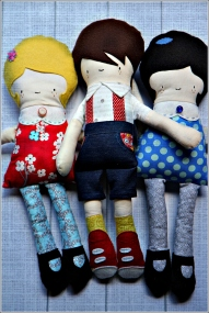 Three Dolls Together, Sewn in Vermont©