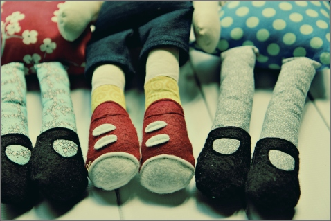Adorable Doll Feet, Sewn in Vermont©
