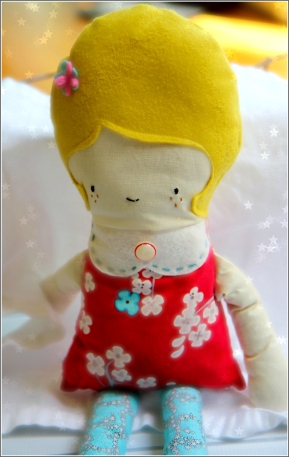 Blonde Girl Doll, Sewn in Vermont©