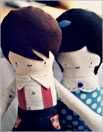 Boy and Girl Dolls, Sewn in Vermont©