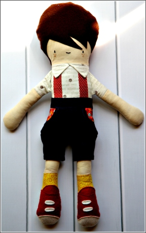 Boy Doll, Front, Sewn in Vermont©