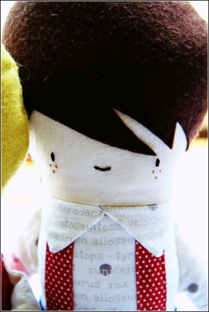 Brown Haired Boy Doll, Sewn in Vermont©