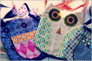 Owl Bags in Sunlight, Sewn In Vermont Products©