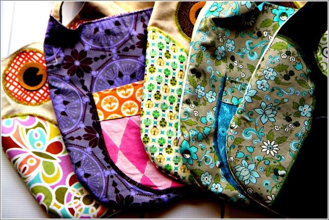 Versatile, Colorful Owl Tote Bags