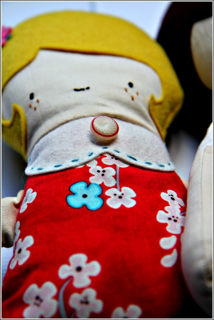 Yellow Haired Doll, Sewn in Vermont©